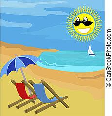 święto, ilustracja, lato
