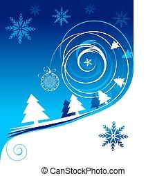 święto, kartka na boże narodzenie, zima