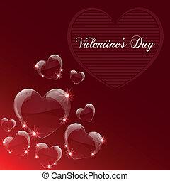 świętować, dzień, karta, valentine