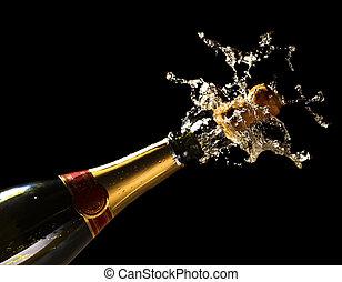 świętować, nowy, pozw, rok