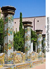 święty, chiara, klasztor, -, neapol