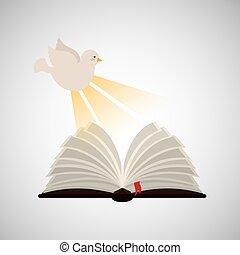 święty duch, otwarta biblia, ikona, zakon, projektować