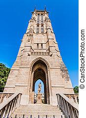 święty, jacques, wieża, paryż, miasto, francja
