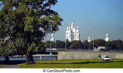 święty, wozy, wiadukt, smolny, petersburg, katedra