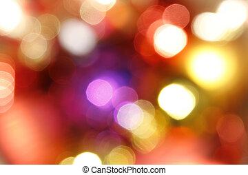światła, abstrakcyjny, święto