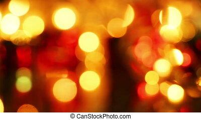 światła, bokeh, boże narodzenie, tło, loopable