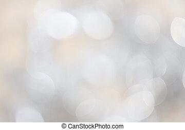 światła, bokeh, srebro