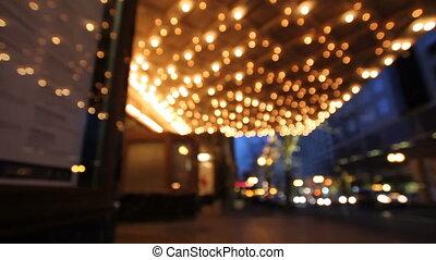 światła, historyczny, theater marquee