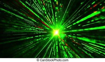 światła, laser, dyskoteka
