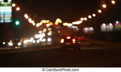 światła, noc, miasto