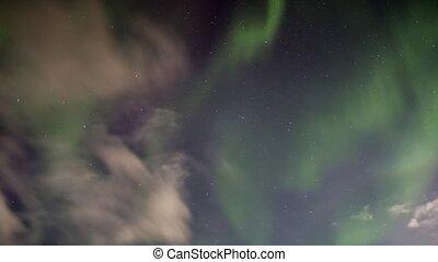 światła, spitsbergen, północny, arktyka