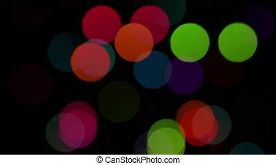 światła, tło, barwny, flas
