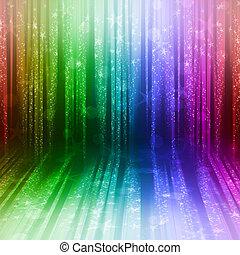 światła, zamazany, barwny, świąteczny