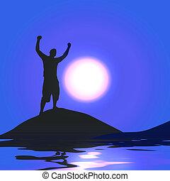 światło księżyca, zwycięstwo