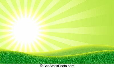 światło słoneczne, i, górki