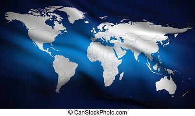 świat, bandera, looped., hd.