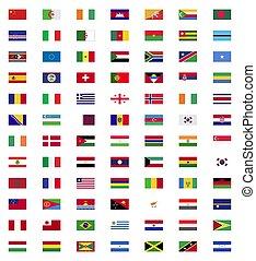 świat, bandera, zbiór