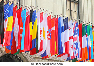 świat, bandery