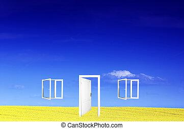 świat, drzwi, nowy