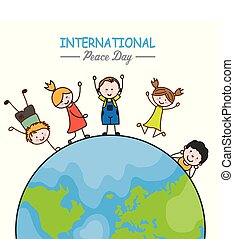 świat, dzieci, dookoła