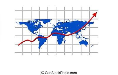 świat handlowy, mapa