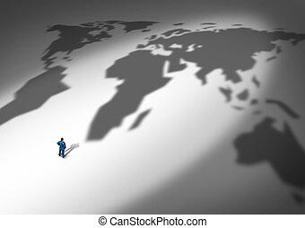 świat handlowy, strategia