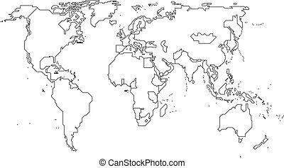 świat, kontynenty