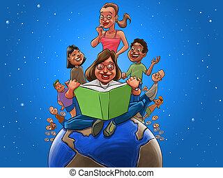 świat, książka