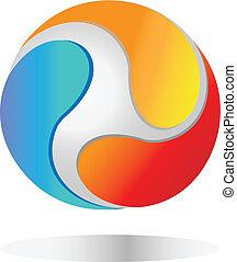 świat, logo