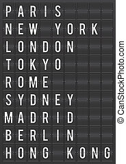 świat, lotnisko, miasto, cele