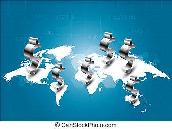 świat, od, handlowy