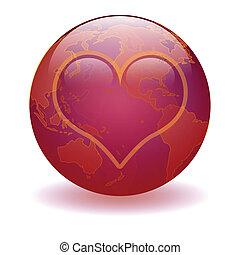 świat, od, miłość