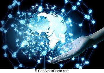 świat, technologie, złączony