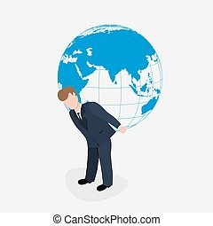 świat, transport, ilustracja, człowiek