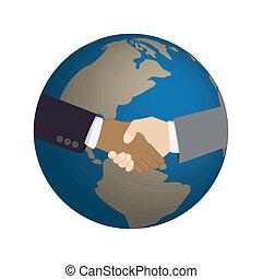 świat, uzgodnienie, tło, mapa