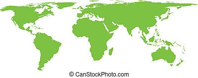 świat, wektor, stylization, mapa