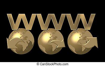 świat, www, szeroki, sieć
