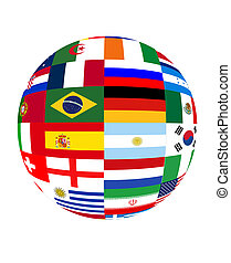 światowa filiżanka, 2014, bandery