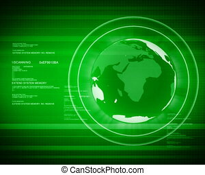 światowa kula, kumpel, cyfrowy