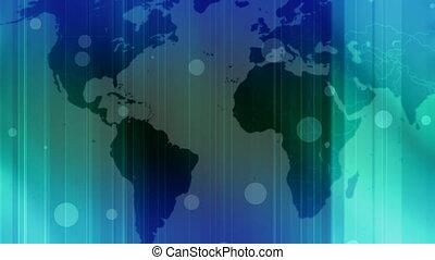 światowa mapa, abstrakcyjny, pętla, dwa