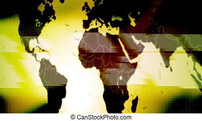 światowa mapa, abstrakcyjny, pętla