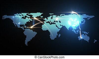 światowa mapa, ożywienie