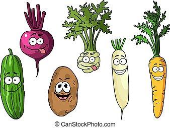 świeża zielenina, rysunek, zabawny