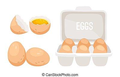 świeże kurczę, jaja