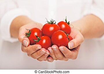 świeży, antyoksydant, pomidory