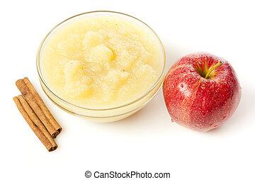 świeży, applesauce, organiczny