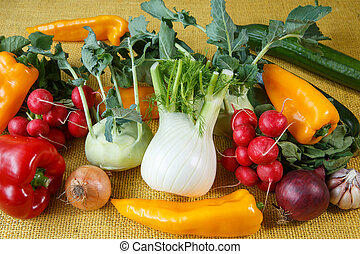 świeży, asortyment, warzywa