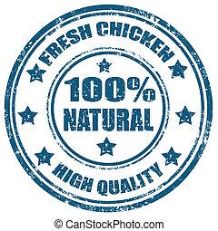 świeży, chicken-stamp