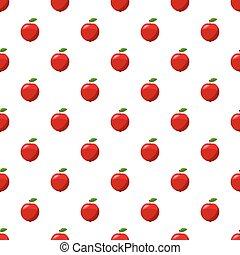 świeży, jabłko, czerwony, próbka