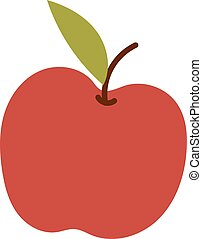 świeży, jabłko, ikona